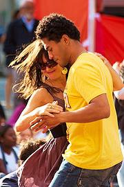 Merngue dancing