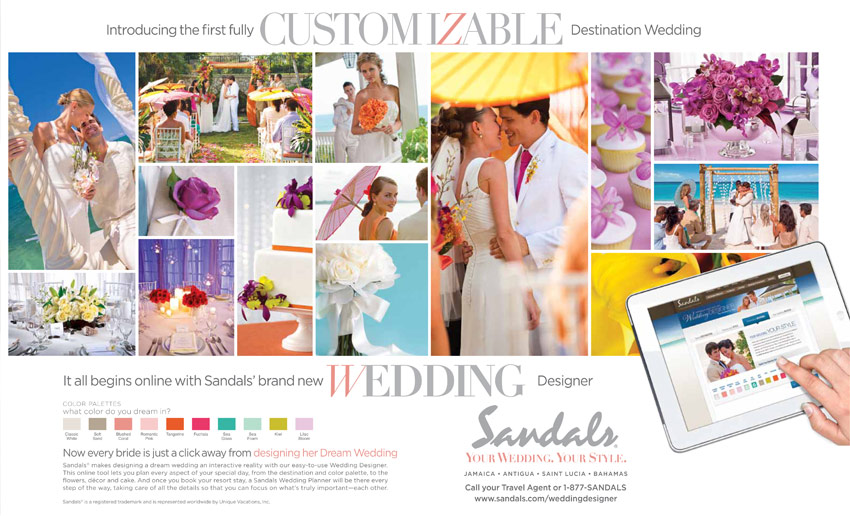 The Sandals View Your Wedding Style